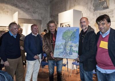 Consegna del Premio, un dipinto del pittore seravezzino Gian Paolo Giovannetti